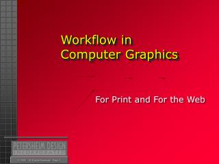 Workflow in Computer Graphics