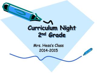 Curriculum Night 2 nd  Grade