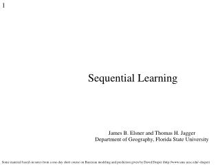 Sequential Learning