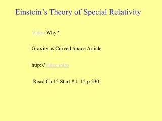 Gravity as Curved Space Article