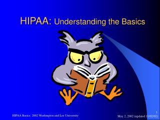 HIPAA:  Understanding the Basics