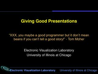 Giving Good Presentations