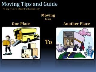 Tips for Planning a Move