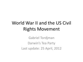 World War II and the US Civil Rights Movement