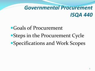 Governmental Procurement  ISQA 440