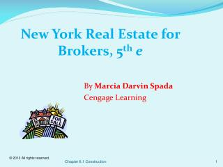New York Real Estate for Brokers,  5 th e