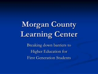 Morgan County Learning Center