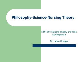Philosophy-Science-Nursing Theory