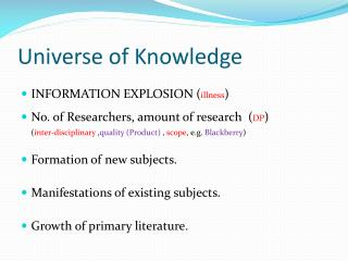 Universe of Knowledge