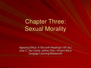 Chapter Three: Sexual Morality