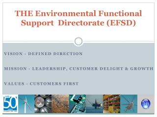 THE Environmental Functional Support  Directorate (EFSD)