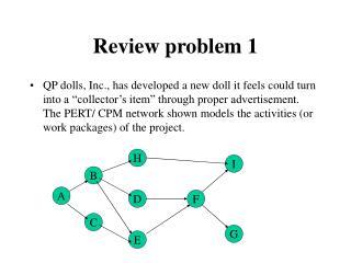 Review problem 1