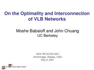 On the Optimality and Interconnection  of VLB Networks