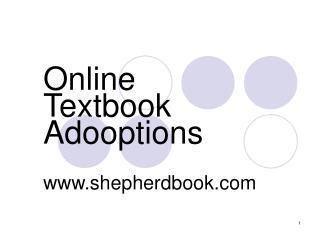 Online Textbook Adooptions shepherdbook