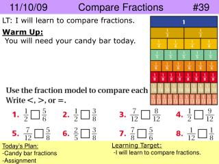 11/10/09		Compare Fractions		#39