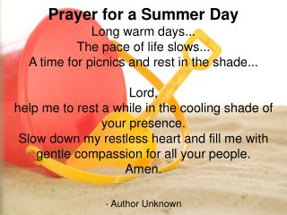 Prayer for a Summer Day
