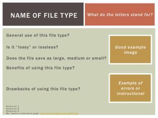 Name of File Type