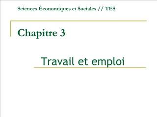 Sciences  conomiques et Sociales