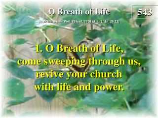 O Breath of Life (Verse 1)