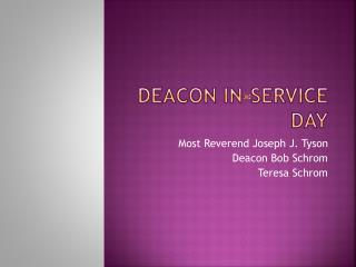 Deacon in-service day