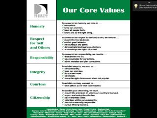 1 core values Presentation2