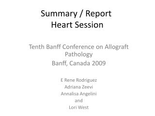 Summary / Report   Heart Session