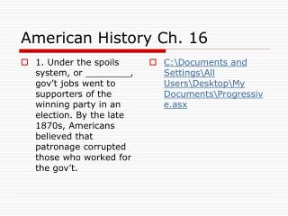 American History Ch. 16