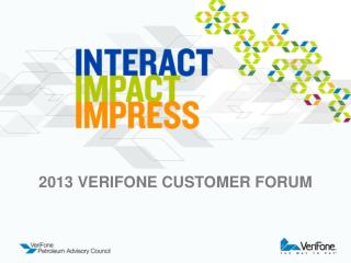 2013 Verifone customer forum