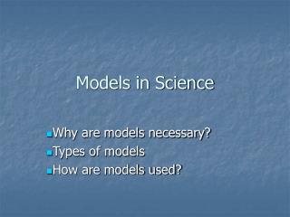 Models in Science