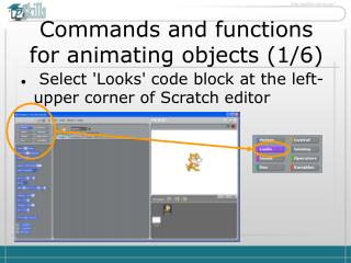 Commands and functions for animating objects ( 1 / 6 )