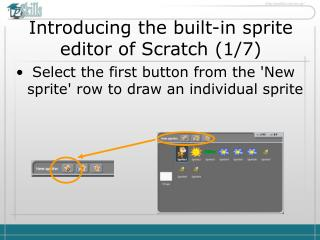 Introducing the built-in sprite editor of Scratch  ( 1 / 7 )