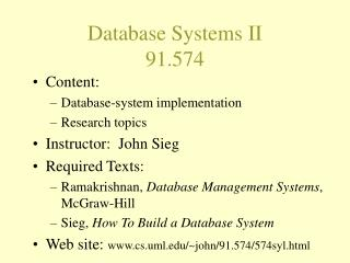 Database Systems II 91.574