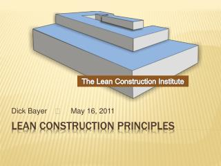 Lean Construction Principles