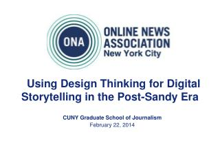Using Design Thinking for Digital Storytelling in the Post-Sandy Era