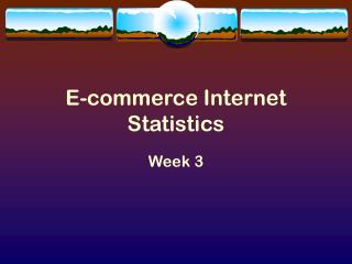 E-commerce Internet Statistics