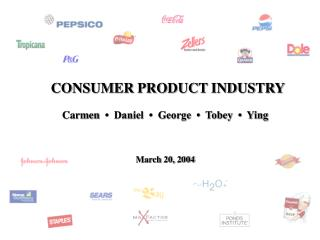 CONSUMER PRODUCT INDUSTRY