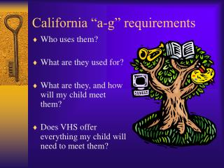 "California ""a-g"" requirements"