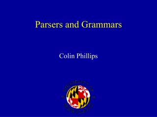 Parsers and Grammars