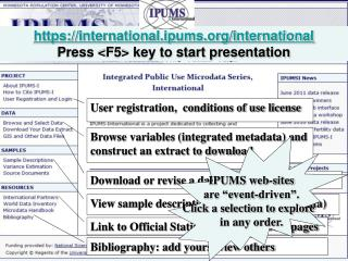 https://international.ipums/international Press  <F5>  key to start presentation