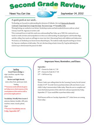 News You Can Use  September 14, 2012