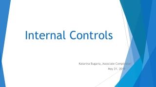 Internal Controls - Applications