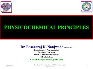 PHYSICOCHEMICAL PRINCIPLES