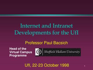 Internet and Intranet Developments for the UfI