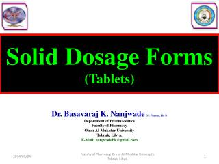 Solid Dosage Forms (Tablets)
