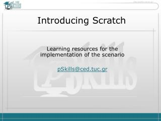 Introducing Scratch