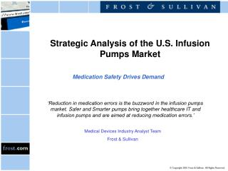 Strategic Analysis of the U.S. Infusion Pumps Market