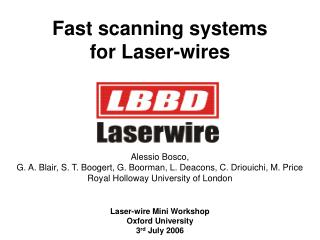 Fast scanning systems for Laser-wires