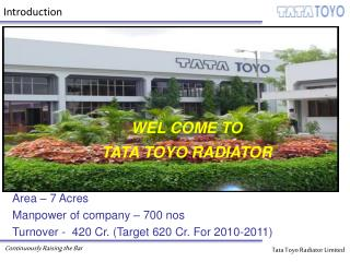 WEL COME TO TATA TOYO RADIATOR