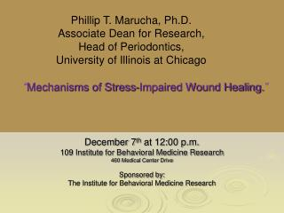 """ Mechanisms of Stress-Impaired Wound Healing. """