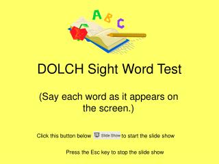 DOLCH Sight Word Test